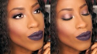 Fall Makeup Tutorial - Bordeaux Eyes & Dark Purple Lips