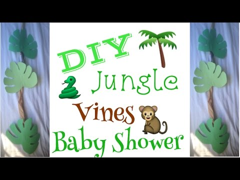 DIY Jungle Vines | Baby Shower Prep