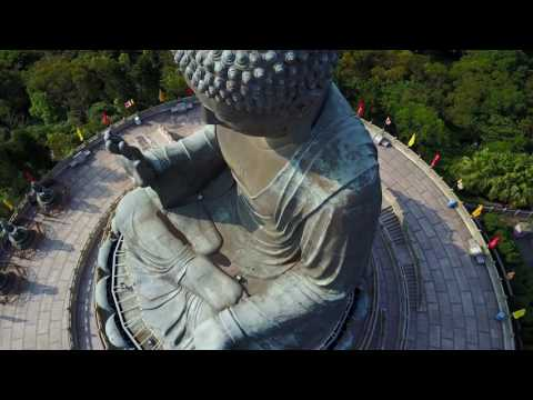 Tian Tan Buddha at Lantau Hong Kong with DJI Mavic Pro