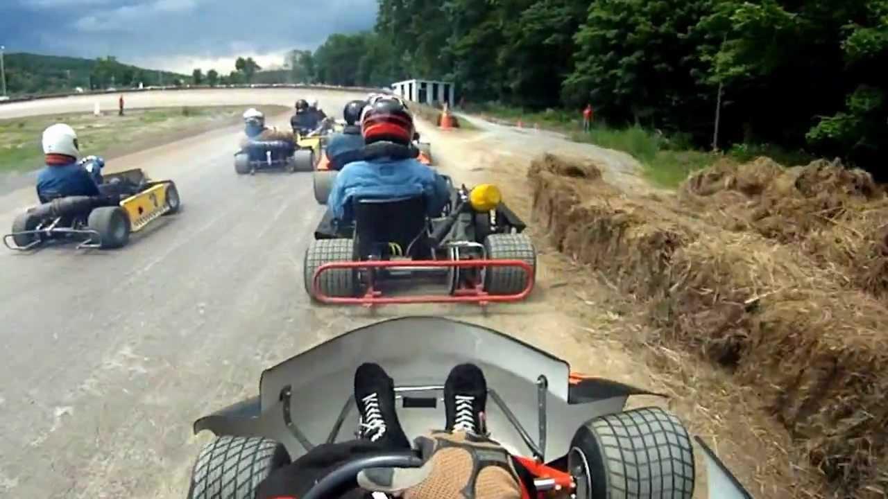 Lebanon Valley Flat Head Modified go kart 6-3-12 heat race #5 ...