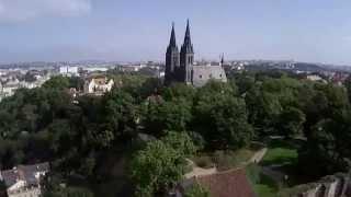 Vyšehrad z Císařské louky - Praha by DJI Phantom