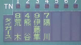 阪神対西武との練習試合を撮ってみました。 両チームの試合前ノックと ...