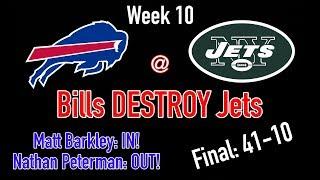 Bills DESTROY Jets in Week 10 || The Matt Barkley Experience