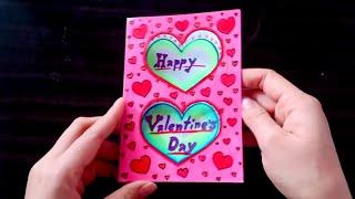 ทำการ์ดวันวาเลนไทน์ ด้วยสีไม้ How to make Valentine's Day Card #3