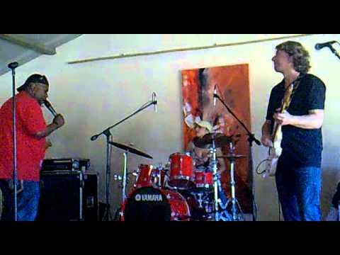Butch Williams and Mavitek Heart Band. Sound check in Mallorca. April 2011.