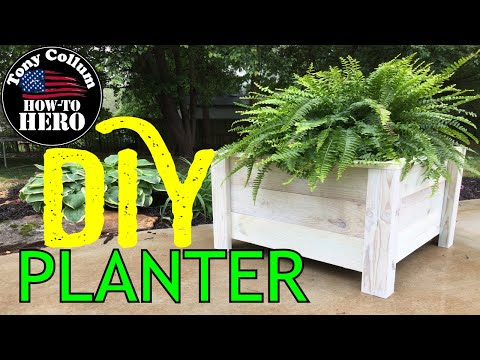 How to build a wooden planter box | CHEAP