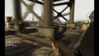 Call of Duty - World at War Multiplayer: Gameplay (PC) Thompson / Flamethrower on Battery