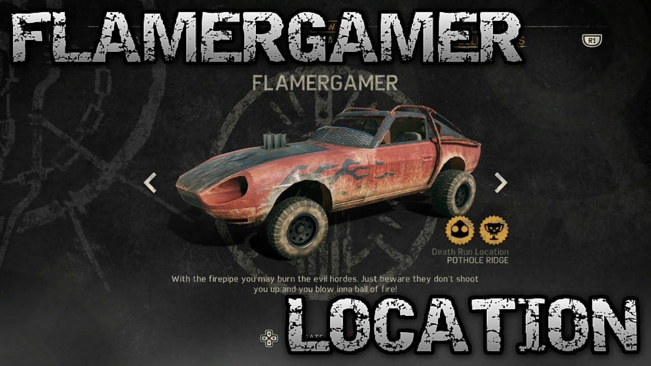 Mad Max Rare Car Flamergamer Location Youtube