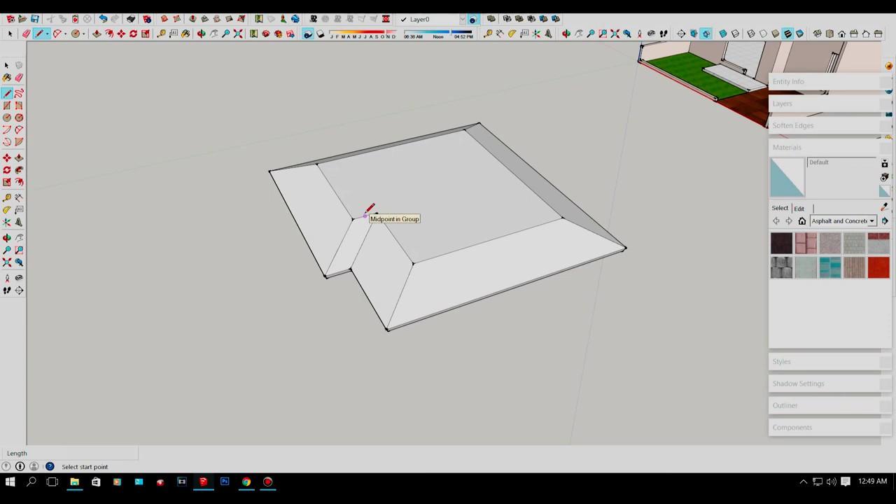 Cara Membuat Atap Prisma di SketchUP YouTube