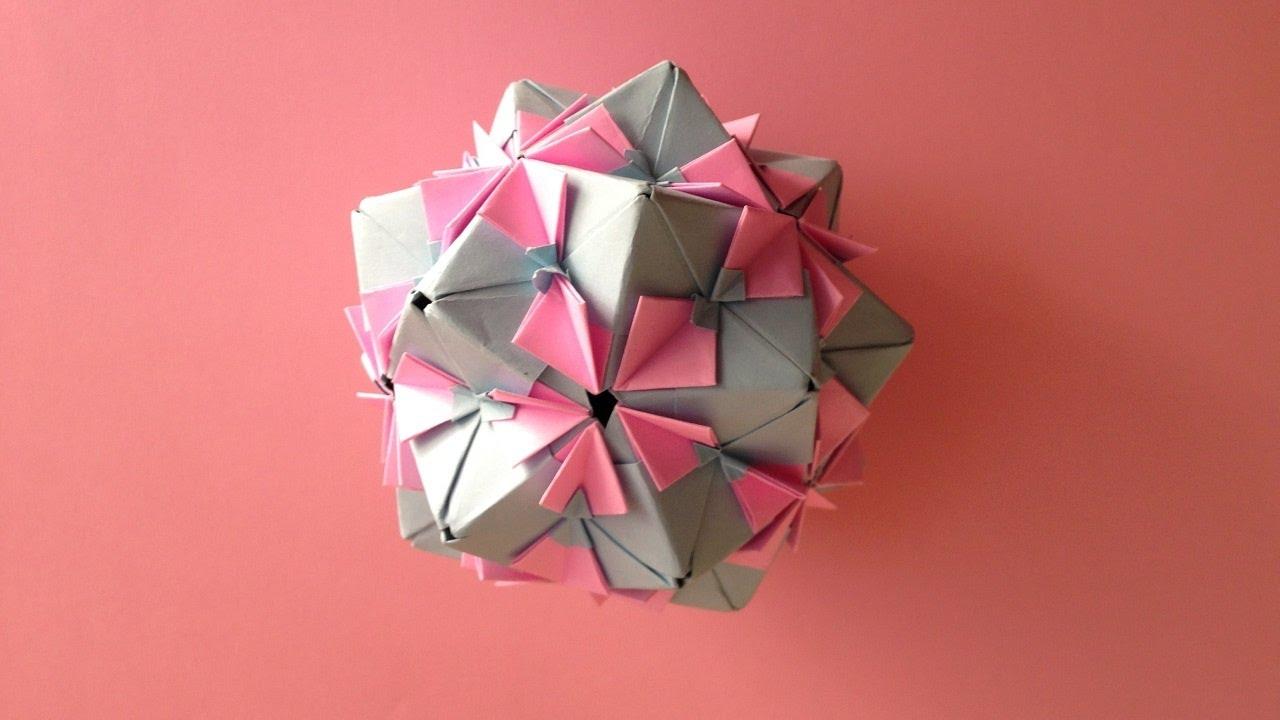 Origami Kusudama Flower 30units Instructions 折り紙 の くす玉 花 なでしこ