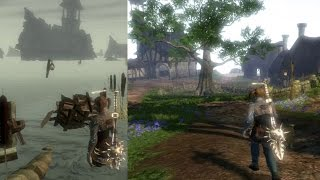 Fable II Oakvale before and after