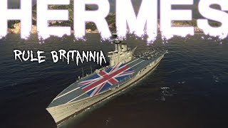 Скачать Rule Britannia Hermes 105k Dmg Kraken High Caliber World Of Warships