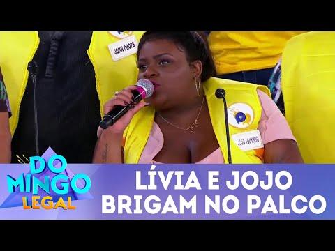 Lívia e Jojo brigam no palco do Passa ou Repassa | Domingo Legal (08/04/18)