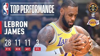 LeBron James Records His First Triple-Double With the Lakers | October 25, 2018