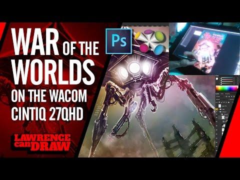 War Of The Worlds Wacom Photoshop LiveStream