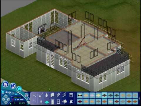 The sims 1 making a house v1 build mode part one youtube for What is needed to build a house