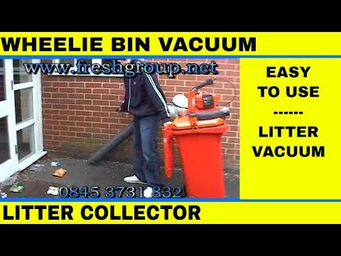 Wheelie Bin Litter Vacuum Collector Video