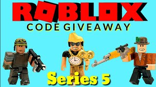 "Roblox toys series 5 blind boxes ""Code Giveaway"" opening unboxing toy 