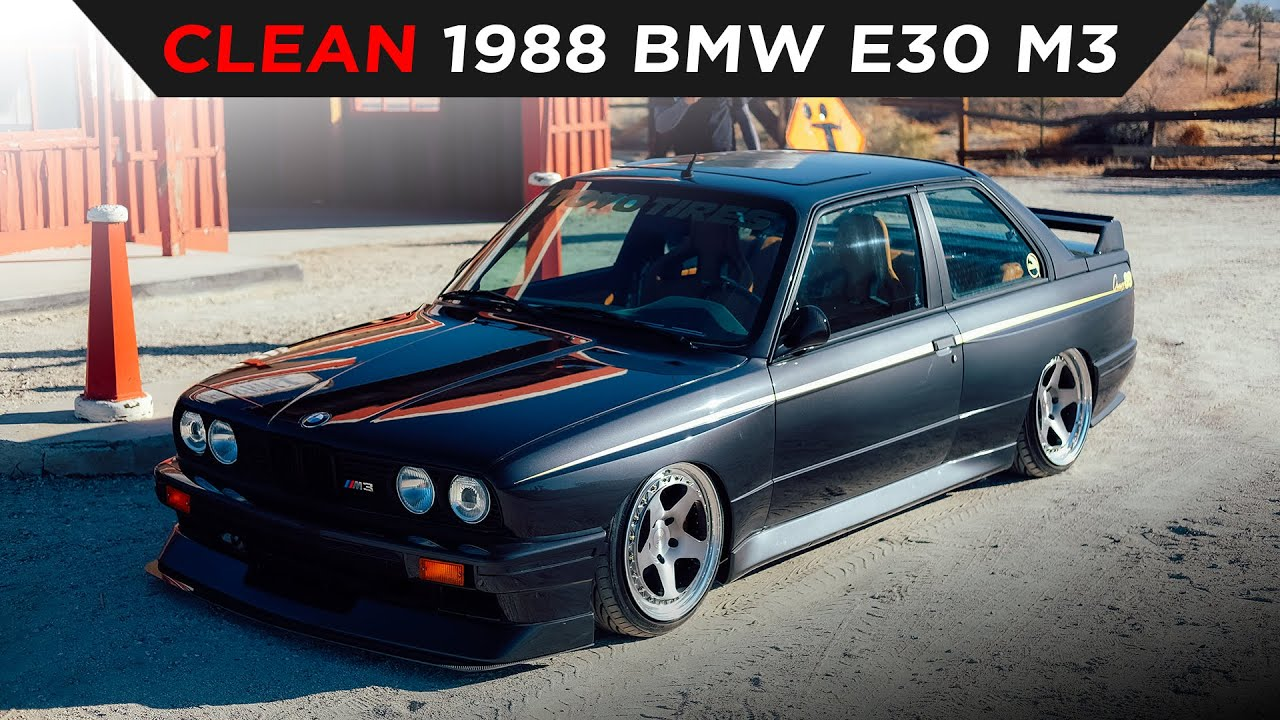 SUPER CLEAN 1988 BMW E30 M3 | #TOYOTIRES | [4K60]