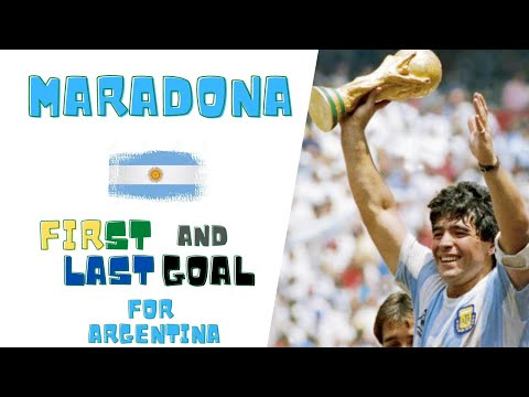 Diego Maradona  ● First and Last Goal For Argentina nation / Moments Impossible To Forget