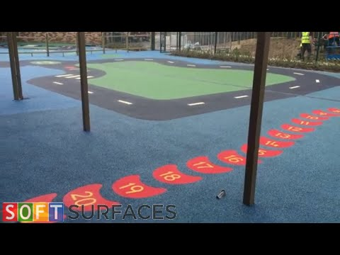 Colourful Rubber Playground Flooring Installation in Wakefield, West Yorkshire | Wetpour Playground