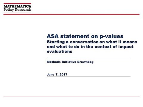 ASA Statement on P Values