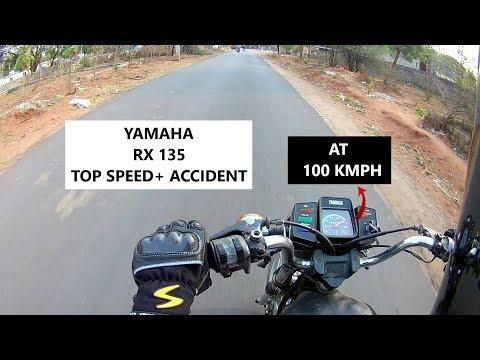 YAMAHA RX 135 (RXG) TOP SPEED || Accident