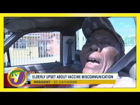 Elderly in Jamaica upset over Vaccine Miscommunication | TVJ News