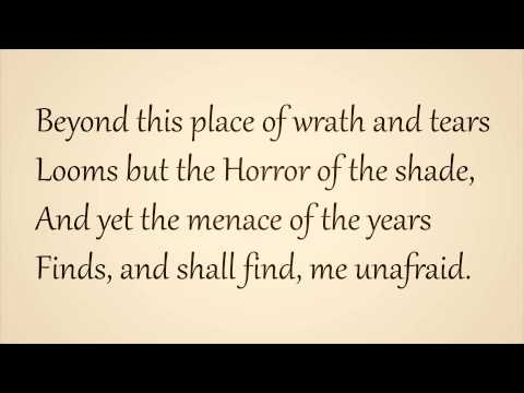 Invictus Poem by William Ernest read with English / British Accent 'Moving Version' Copyright Free.