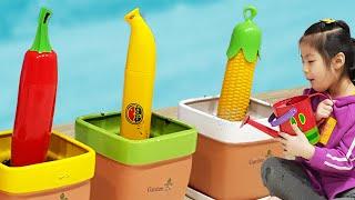 씨앗을 심었는데 이상한게 나왔어요!! 서은이의 화분 가꾸기 바나나 옥수수 우산 츄파춥스 사탕 타요 Seeds, Candy, and Umbrella