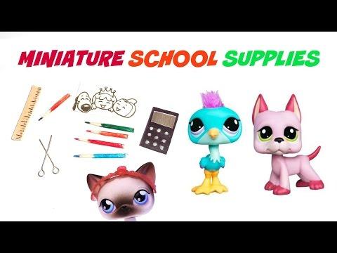 DIY LPS School Supplies - DIY LPS Crafts & Stuff