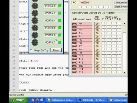 VMLAB tutorial for beginners Microcontrollers Lab