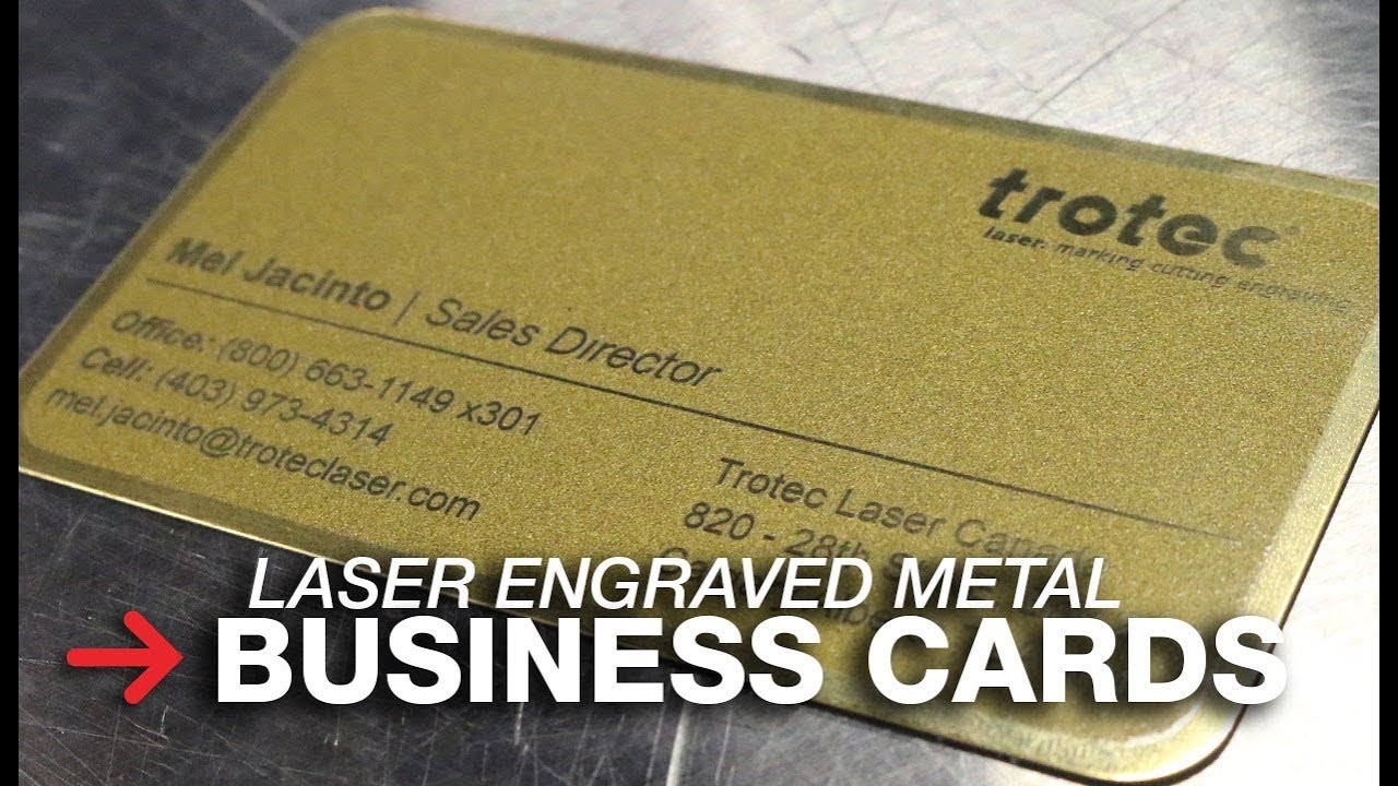 Metal Business Cards Laser Engraving