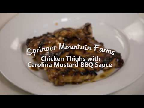 Grilled Chicken Thighs With Carolina Mustard Barbecue Sauce