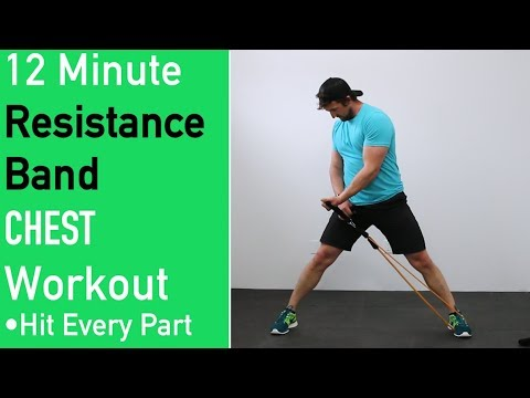 Resistance Band Chest Workout ��[ No Attaching Bands to Anything ]��