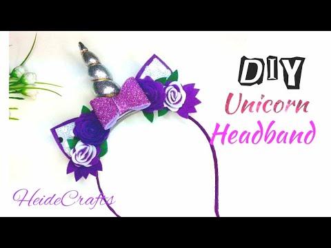 Make your own  Unicorn Headband DIY Easy Tutorial