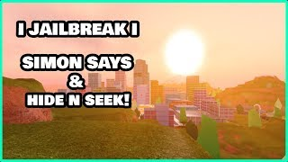 🔴ROBLOX JAILBREAK SIMON SAYS AND HIDE AND SEEK! | WINNER GET'S CASH! | Roblox Live Stream🔴