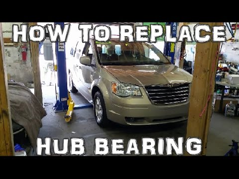 How to Replace Front Hub Bearing 2008-2016 Chrysler Town & Country