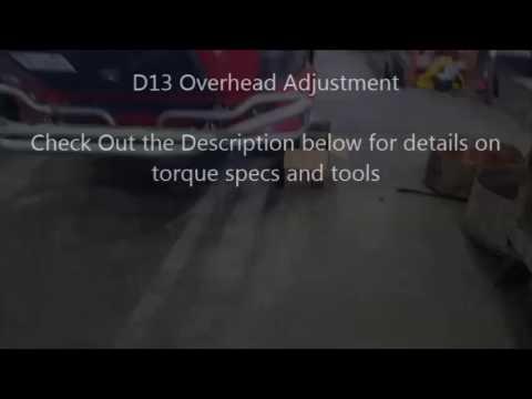 Volvo D13 with VEB Overhead Valve Adjustment