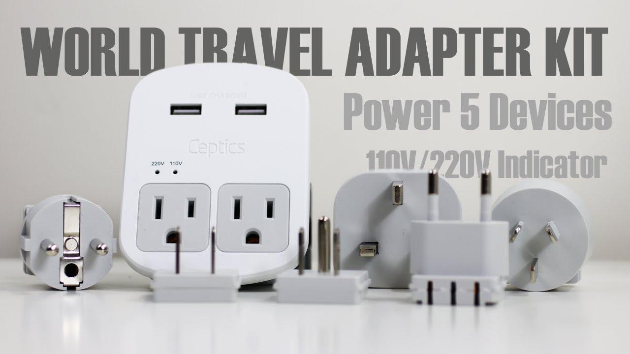 The Ultimate World Travel Adapter Kit by Ceptics features Surge ...