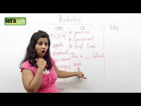 Articles    a, an & the     English Grammar lesson   YouTube 480p