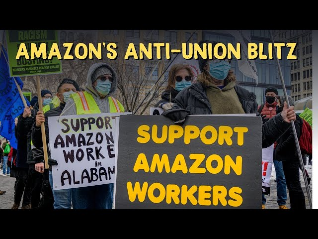 Amazon's Anti-Union Blitz #shorts