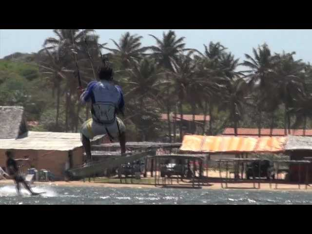 Kitesurf in Barra do cauipe with Carlos Madson 10/2011, Brazil Travel Video