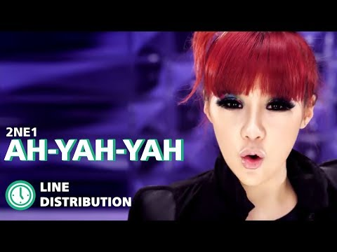 2ne1 - Love Is Ouch : Line Distribution (Color Coded Bars)