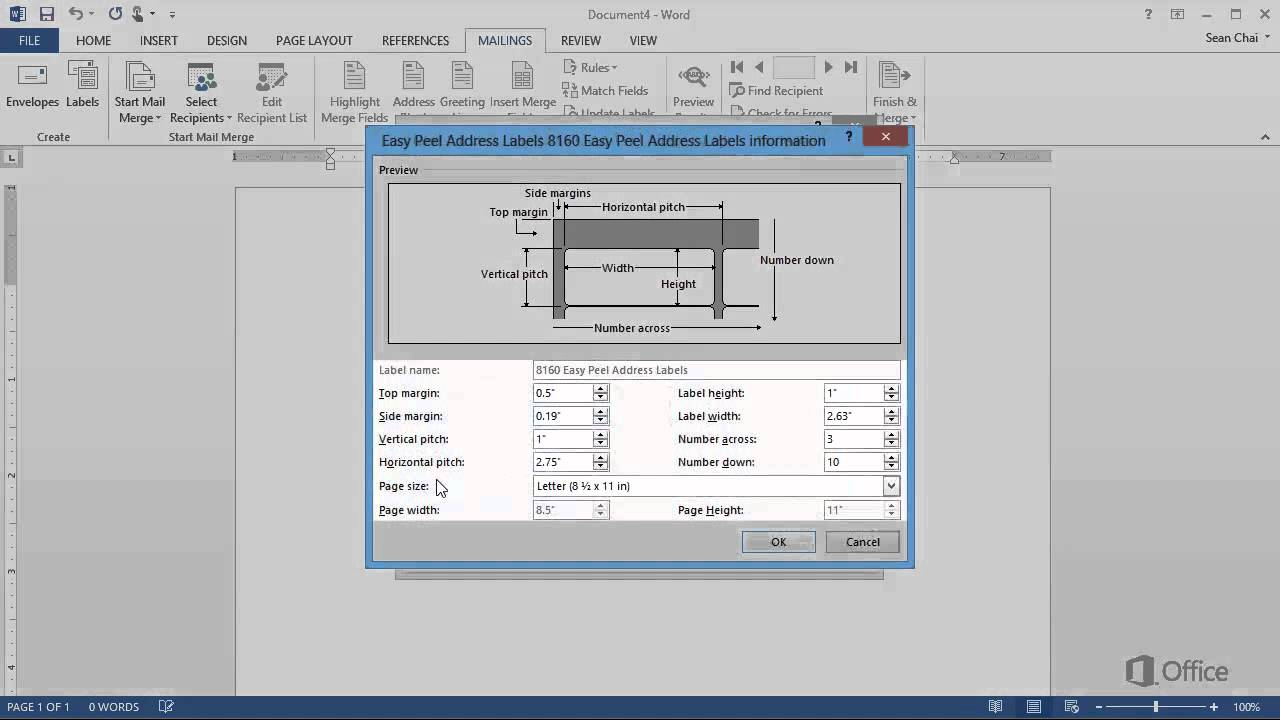 Training   Create Labels In Word 2013 Create And Print Labels   Video 1 Of  4   YouTube  Format Labels In Word