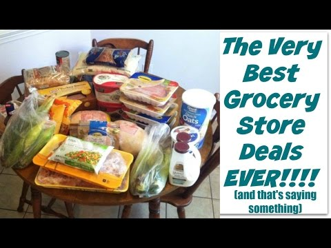 THE VERY BEST GROCERY STORE DEALS EVER!!  Discount Store and WalMart Haul