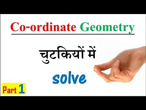 Coordinate Geometry for SSC CGL Tier 1 and Tier 2 and all competitive exams (Part 1)