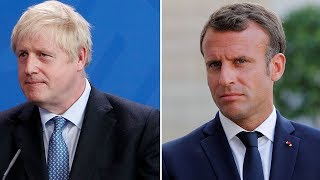 Watch again: Boris Johnson and Emmanuel Macron make joint statement
