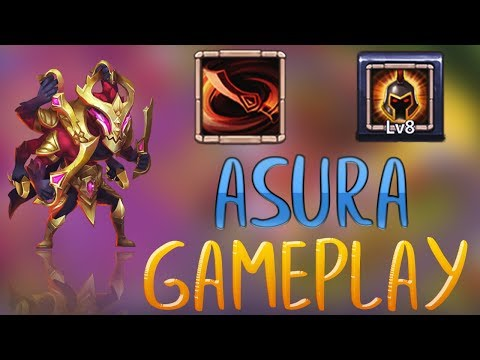 ASURA MAXED OUT | 8/8 Wargod | Gameplay | CASTLE CLASH