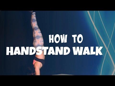 HOW TO WALK ON YOUR HANDS   Handstand Walk Gymnastics Tutorial
